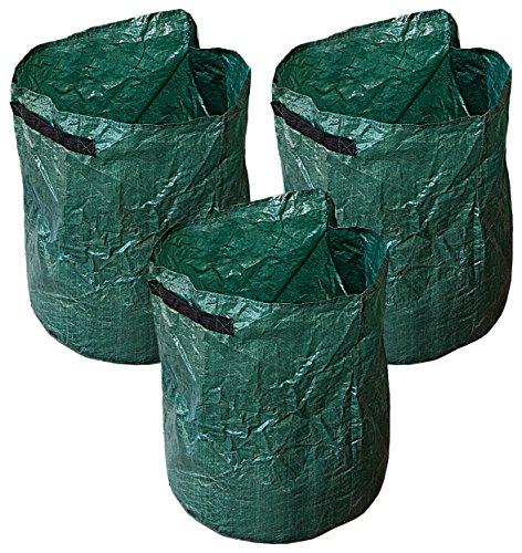 Royal Gardineer Kartoffelpflanzsack: 3er-Set Pflanz-Sack für Kartoffeln & Co, Tragegriffe & Abwasserlöcher (Pflanzsäcke) -