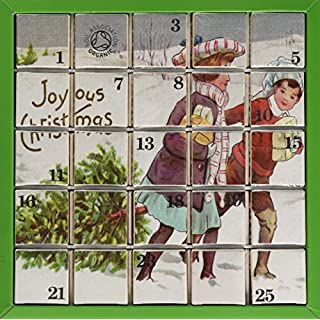 English Tea Shop Organic Joyous Christmas Advent Calendar (Pack of 2, Total 50 Pyramid Tea Bags)