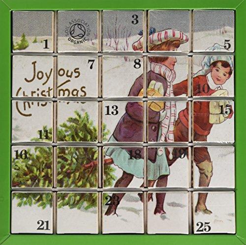 English Tea Shop Organic Joyous Christmas Advent Calendar (Pack of 2, Total 50 Pyramid Tea Bags)