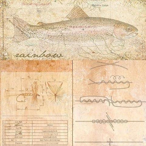 Andrew Sullivan – Rainbow Trout Impression d'art Print (30,48 x 30,48 cm)