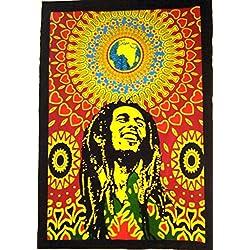 Bob Marley Pared Wandteppich, Hippie Poster, India, zum Aufhängen Boho Wohnheim Dekor, Bohemiam Arte Wand
