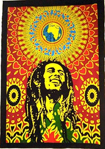 Bob Marley Pared Wandteppich, Hippie Poster, India, zum Aufhängen Boh