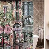 kinlo®–Cortina de ducha (180x 200cm Cortinas de Ducha para bañeras, incluye 12anillos de cortina de ducha, 100% poliéster, resistente al agua, antimoho para de efecto