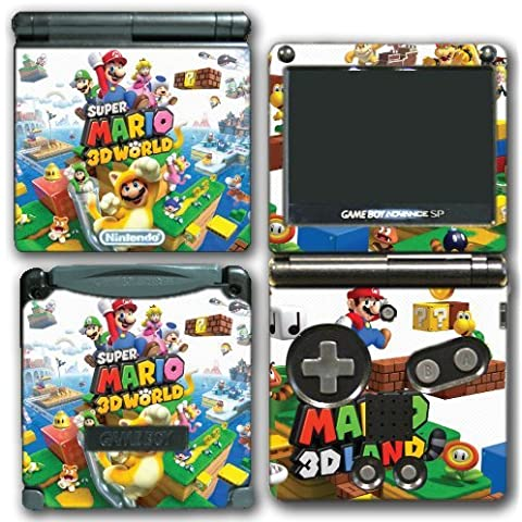 Super Mario 3D World 2 Land Mario Luigi Peach Toad Cat Suit Video Game Vinyl Decal Skin Sticker Cover for Nintendo GBA SP Gameboy Advance System by Vinyl Skin