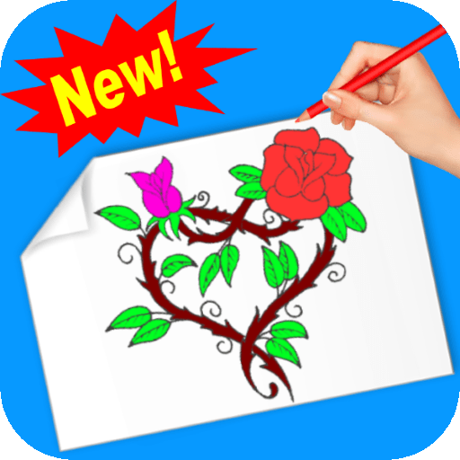 Rose coloring book for adults free no wifi
