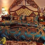 BB.er Upscale nackt schlafen Seide Bettwäsche 4-Stück Seide Doppelseitige Blätter luxus Haushaltswaren