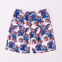 TT Troncos de baño de playa de cinco puntas con impresión suelta de secado rápido para hombres,Azul,XXXL