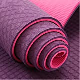 Neo Gold Leaf Eco-Friendly Double Textures TPE Yoga Mat (Pink)