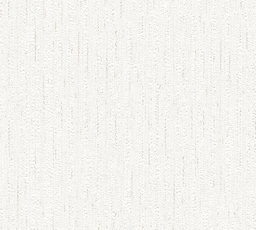A.S. Création Papiertapete Happy Spring Tapete 10,05 m x 0,53 m beige braun weiß Made in Germany 559845 5598-45 -