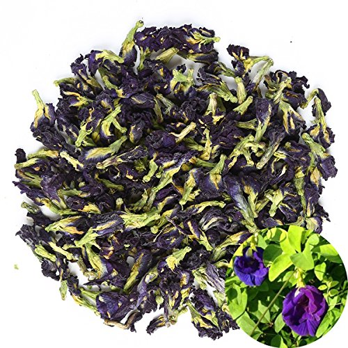 TooGet Dried Pure Butterfly Pea Flowers, Natural Clitoria ternatea Herbals Blue Tea Wholesale, Top Grade - 60g