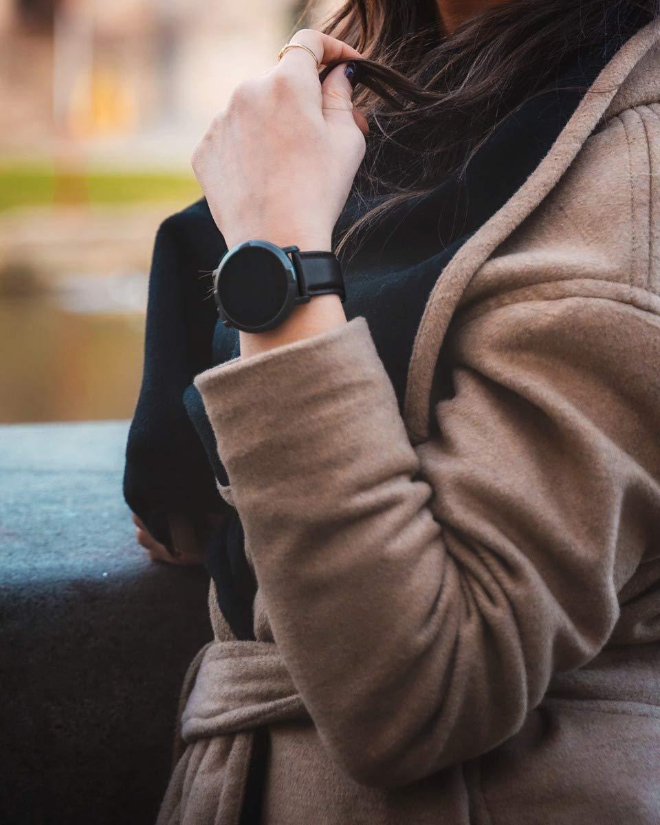 Florence Marlen   Italian Design   Smartwatch Hombre-Mujer FM1R Verona Correa Piel Negra Bluetooth Pantalla táctil Impermeable Cardiofrecuencímetro, iOS y Android, Reloji Inteligente 8