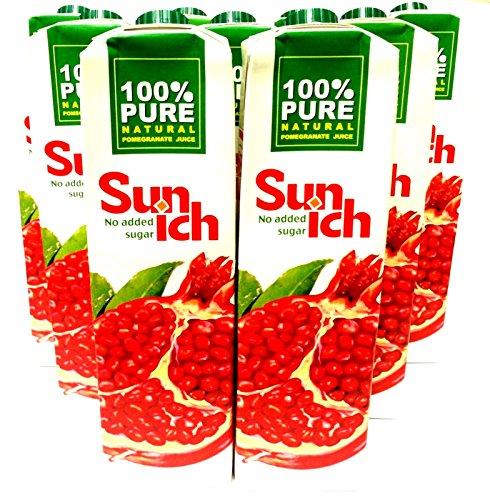 10 x 1 Ltr. Sunich Granatapfelsaft 100% Fruchtsaft Granatapfel Grenadine Juice