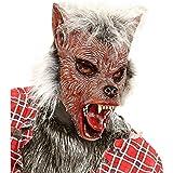Máscara hombre lobo pelo adulto Halloween - Única