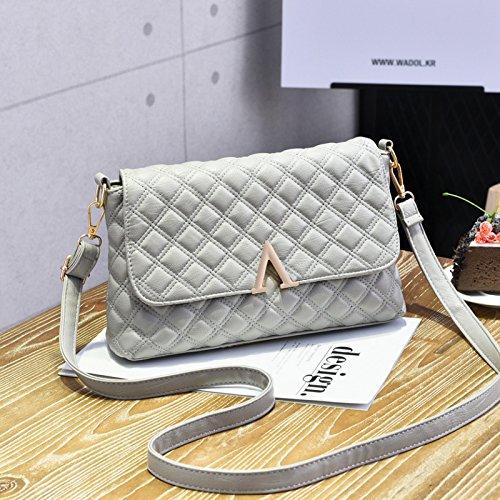 Femmina LiZhen nuovi pack di trasporto atmosferico selvatici coreano moderno piccolo pacchetto pelle morbida tote bag spalla un cross-pacchetto, royal blue Grigio