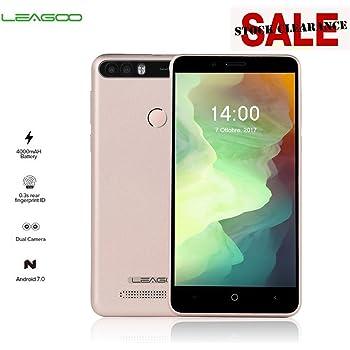 LEAGOO KIICAA POWER Smartphone 2+16GB Dual Fotocamere 4000 mAh 5.0 Pollici Impronte Digitale Dual Sim Android 7.0, Oro