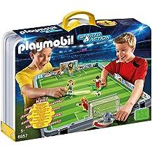 Playmobil - Set de fútbol, maletín (68570)