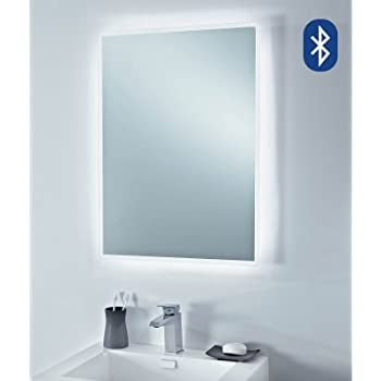 500 X 700 Mm Modern Illuminated Led Bathroom Mirror With Bluetooth