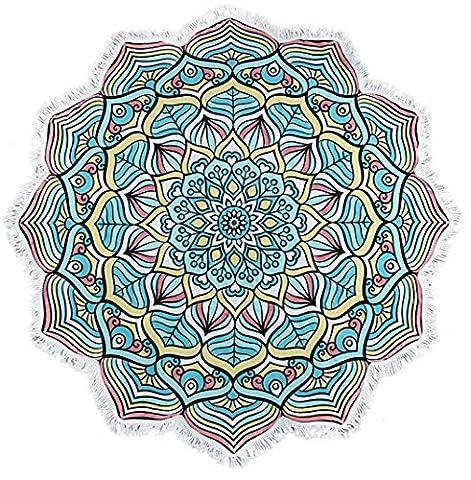 Serviette de plage Couvre-lit, 1PC Omiky® Bohême Floral hippie Tapisserie géométrique Bikini Cover Up Couverture de pique-nique Tapis de yoga Nappe Housse de matelas à suspendre au mur, Polyester, # A, 150*150cm/59*59