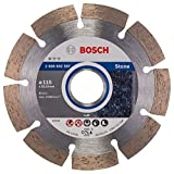 Bosch Professional Diamanttrennscheibe (für Granit und Naturstein, Ø: 115 mm, Zubehör für Winkelschleifer)