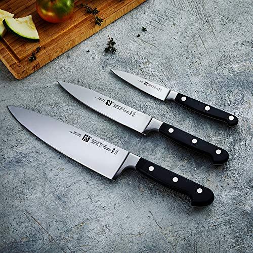 Zwilling PROFESSIONAL S - Set de 3 cuchillos, puntilla, fileteador y cebollero, acero inoxidable