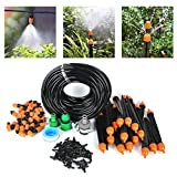 25m DIY Automatic Micro Drip Irrigation Kit-82FT Irrigation Pipe, Irrigation Spray , Complete Irrigation Parts,Perfect Irrigation Systems for Flower Bed, Patio, Garden Greenhouse Plants - BORUiT - amazon.co.uk