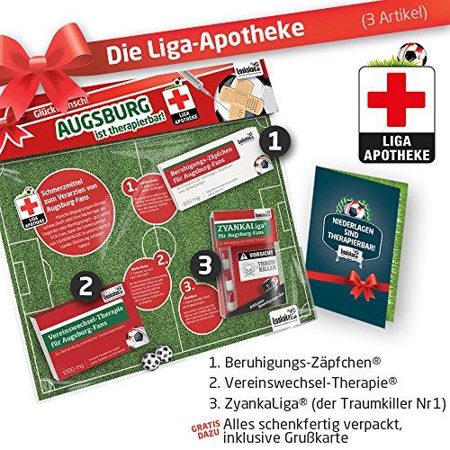 Geschenk-Set: Die Liga-Apotheke für FCA-Fans   3X süße Schmerzmittel für Augsburg Fans   Die besten Fanartikel der Liga, Besser als Trikot, Home Away, Saison 18/19 Jersey