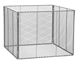 Rewwer-Tec 200004406 Komposter 100 x 100 x 80 cm, verzinkt aus Streckm. 4-teilig