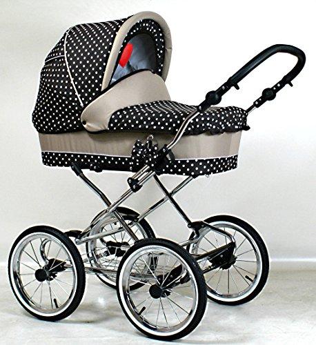 Wunderschöner Retro Kinderwagen Babywagen 3in1 giullietta (K108)