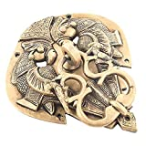 #9: IndianShelf Handmade Decorative Antique Look Brass Multicolor Vintage Decorative Door Knocker