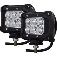 LncBoc 72W LED Fari Lampada Luce di Lavoro per Off-Road Camion per Auto Luce di Inondazione ATV SUV DC 12V 24V Confezione da 2