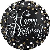 paduTec Heliumballon Ballon Folienballon - Happy Birthday Glamour Lady - Geburtstag Deko - mit Helium gefüllt
