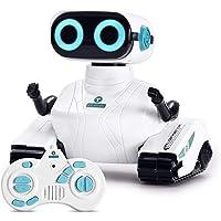 ALLCELE Jouets Robot Enfants Télécommandés, Jouets éLectriques avec Poignée Télécommandée, Yeux LED et Bras Flexibles…