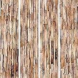 murando - PURO TAPETE - Realistische Holzoptik Tapete ohne Rapport und Versatz - Kein sich wiederholendes Muster - 10m Vlies Tapetenrolle - Wandtapete - modern design - Fototapete - Holz f-A-0205-j-c