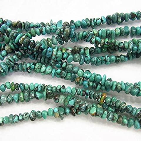 Thetastejewelry 7–9 mm Chips Perles Turquoise 38,1 cm 38 cm Bijoux Collier Healing