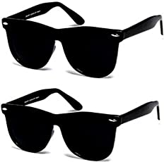 Y&S UV Protection Wayfarer Unisex Sunglasses(Black) - Combo Pack
