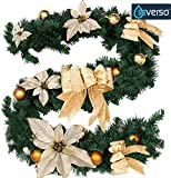 16 Quot Inch Artificial Gold Poinsettia Holly Christmas