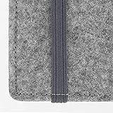 Stilbag Filztasche 'FINN' für LG G4 – Farbe: hellgrau/pink - 5
