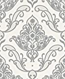 Rasch paperhangings 319620Tapete Wandverkleidung,–weiß silber (12-teilig)