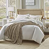 Serta Heather Blanket,Tan Marble,Twin
