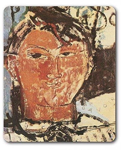 1art1 89226 Amedeo Modigliani - Bildnis Pablo Picasso, 1915, Detail Mauspad 23 x 19 cm -