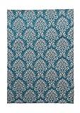 Teppich Wohnzimmer Carpet Orientalisch Modern Design Ballerina 910 Rug Blumen Muster Polyester 160x230 cm Türkis/Teppiche günstig online kaufen