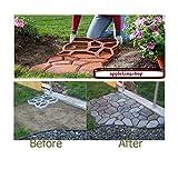 Stampo di plastica di 440 mm x 440 mm x 40 mm (44 cm x 44 cm x 4 cm), taglia media, per realizzare selciato con pietre, per giardini e terrazze