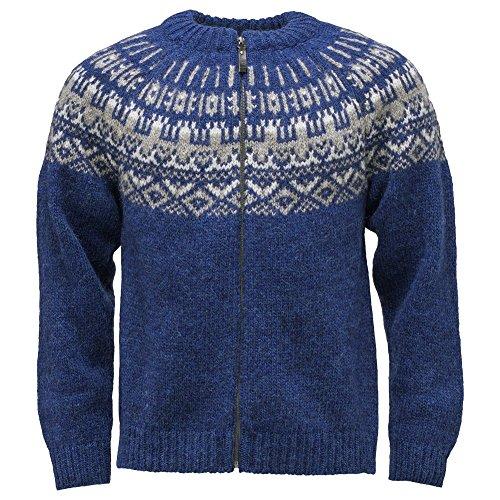 ICEWEAR Elis Wolle Pullover mit Reißverschluss aus 100 % isländischer Wolle Blue