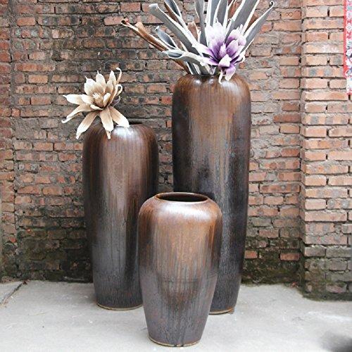 VIO Keramische Tontöpfe Hauptdekor Vase Blumen Keramik Ornamente,Höhe 40 cm,40 cm im Durchm