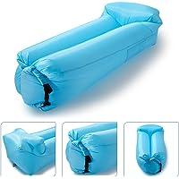 icefox Wasserdichtes Luftsofa, Transportabler Air Lounger mit Tragebeutel, Zum Schlafen im Freien, im Innenbereich, Aufblasbarer Sitzsack