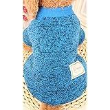 La ropa del perro, perro ropa Teddy Bichón cachorro suéteres, primavera y verano, suéter de cachemir y pet, bolsa de ropa mail,azul,XL