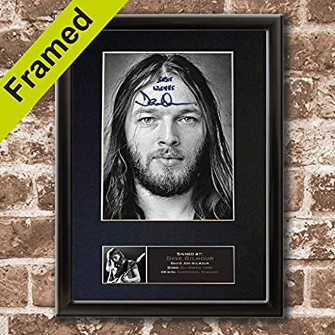 607 Dave Gilmour - High quality reproduction autograph BLACK FRAMED