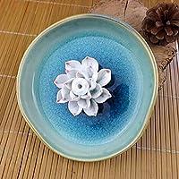 Bluelover Bruciatore di incenso Lotus incenso ceramica Bule Lotus Jingdezhen spina