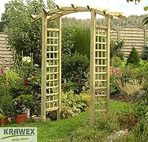 pergola arche de jardin bois arche 200 x 230 x 75 mm jardin. Black Bedroom Furniture Sets. Home Design Ideas