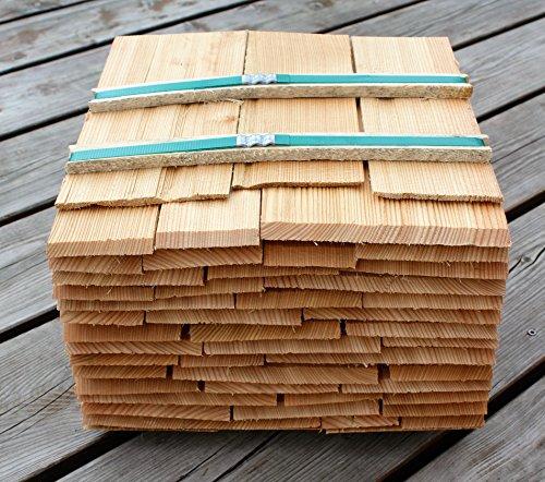 Lärchenholzschindeln 25cm, Bundinhalt 9 Breitenmeter